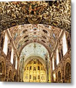 Interior Of The Church Of Santo Domingo Metal Print by Jeremy Woodhouse