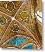 Interior St Francis Basilica Assisi Italy Metal Print by Jon Berghoff
