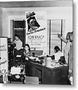 Interior View Of Naacp Branch Office Metal Print