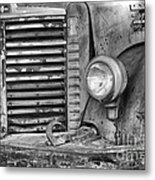 International Truck Black And White Metal Print