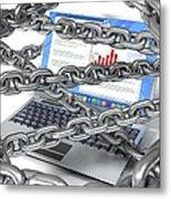 Internet Censorship, Conceptual Artwork Metal Print by David Mack