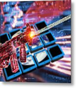 Internet Terrorism Metal Print by Victor Habbick Visions