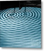 Intersecting Ripples Metal Print