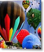 Into The Great Blue Sky - Hot Air Balloon Ride - Hot Air Balloons - Warren County Fair Metal Print