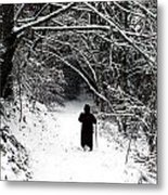 Into The Snowy Forest Metal Print
