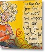 Invitation In Hand Metal Print by Ilisa Millermoon