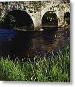 Ireland Bridge Over Water Metal Print