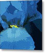 Iris Blue Metal Print