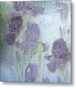 Iris In The Spring Rain Metal Print