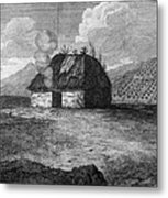 Irish Cabin, 18th Century Metal Print
