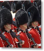 Irish Guards March Pass During The Last Metal Print