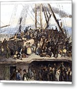 Irish Immigrants, 1850 Metal Print