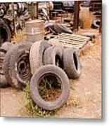 Iron Boneyard 1 Metal Print