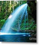 Iron Creek Falls From The Side  Metal Print