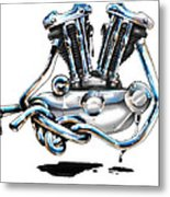 Iron Head Metal Print