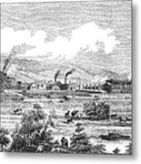 Iron Works, 1855 Metal Print