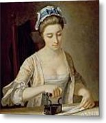 Ironing Metal Print by Henry Robert Morland