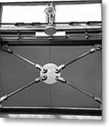 Ironworks In Black And White Metal Print