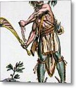 Iroquois Warrior Metal Print
