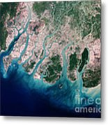 Irrawaddy River Delta Metal Print by Nasa