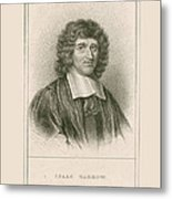 Isaac Barrow, English Mathematician Metal Print