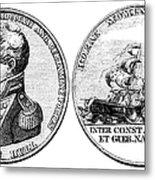 Isaac Hull: Medal Metal Print