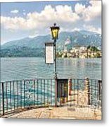 Island San Giulio On Lake Orta Metal Print