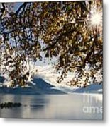 Islands On A Lake In Autumn Metal Print