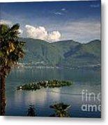 Islands On An Alpine Lake Metal Print