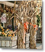 Isoms Orchard In Fall Regalia Metal Print