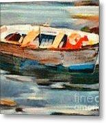 Istrian Fishing Boat Metal Print