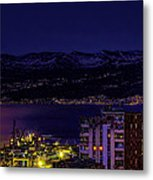 Istrian Riviera At Night Metal Print