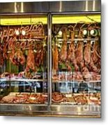 Italian Market Butcher Shop Metal Print by John Greim