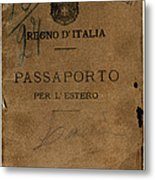 Italian Passport. Italian Passport Metal Print