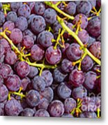 Italian Red Grape Bunch Metal Print