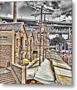 Italian Village-sydney Harbor Bridge Metal Print
