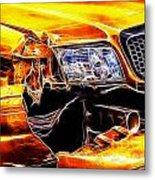 Its Just A Scratch Metal Print