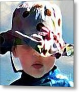 It's Not The Hat But How You Wear It Metal Print