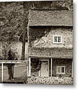 Ivy Covered Farmhouse Metal Print