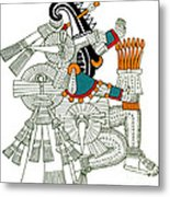 Iztlacoliuhqui, Aztec God Of Frost Metal Print