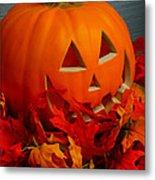 Jack-o-lantern Halloween Display Metal Print