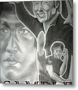 Jackie Chan And Bruce Metal Print by Rick Hill