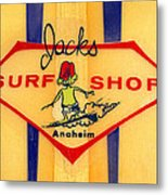 Jacks Surf Shop Metal Print