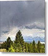 Jackson Hole Thunderstorms Metal Print