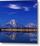Jackson Lake Reflection Metal Print