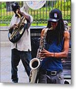 Jackson Square Jazz Metal Print