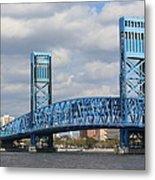 Jacksonville Main Street Bridge Metal Print