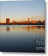 Jacqueline Kenedy Onassis Reservoir Metal Print by Alan Clifford
