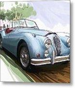 Jaguar X K 140 Metal Print