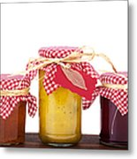 Jam Jelly And Pickle Metal Print by Jane Rix